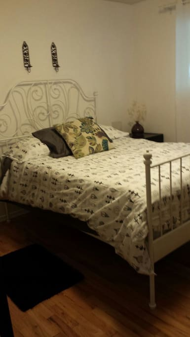 Nice bedding. Also a fan if it's warm outside for your comfort and white noise if you would like.