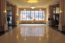 Ground floor lobby of the Kirkwood building