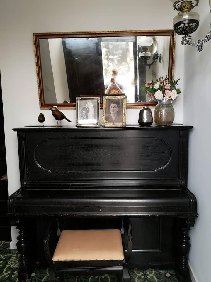 Cantinho do Piano - Quarto Twin Vista Mar