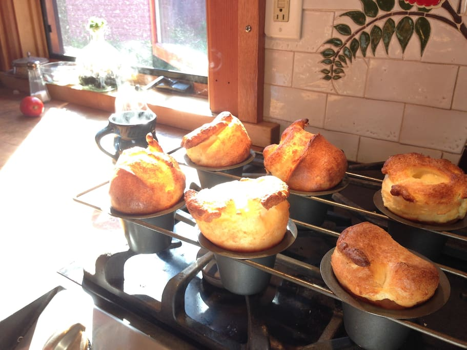 Your host loves to cook popovers and muffins.