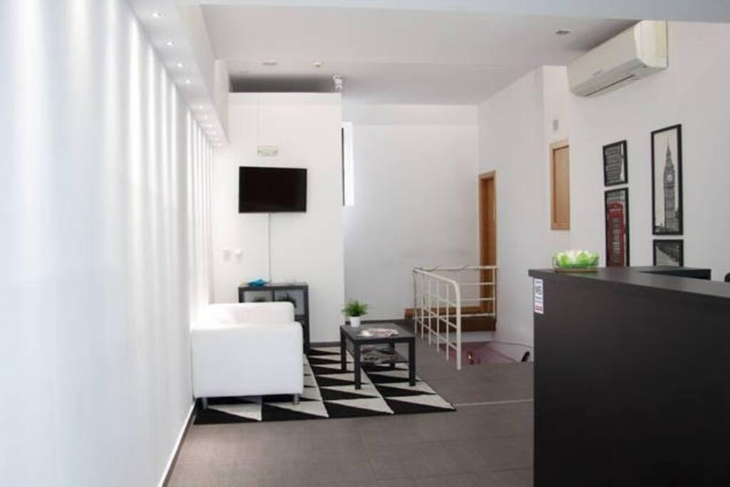 Holiday House Lisbon H. Recepção sala, o mais novo espaço de Lisboa.
