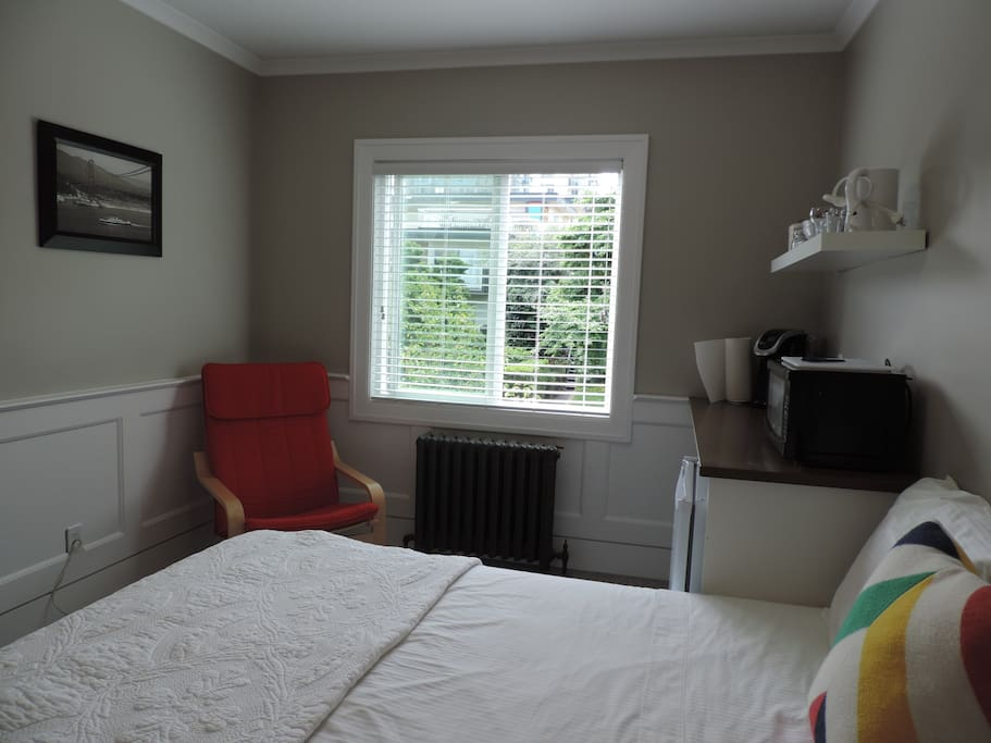 Bright room with a comfy chair