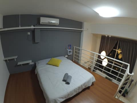 *Private Loft*great4 couples7H*Near airport 6.5km