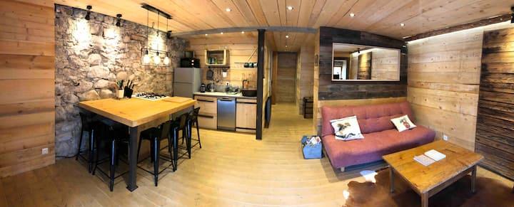 Appartement atypique en montagne  avec sauna privé