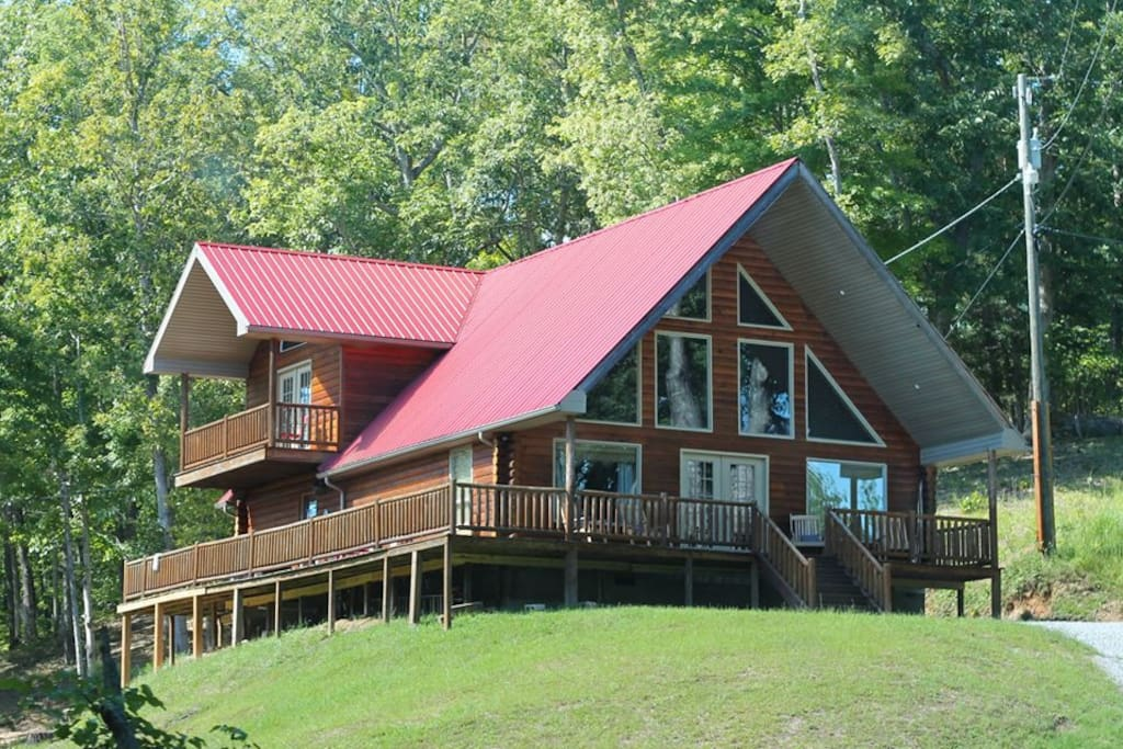 Sacred Winds Yatesville Lake Luxury Cabin Rental Cabins For Rent In Louisa Kentucky United States
