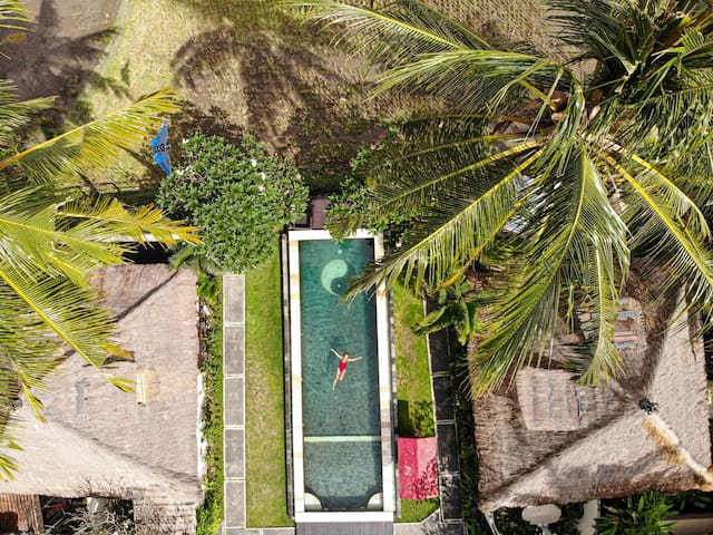 Villa⚡Green⚡scured compound;sunset view+pool+resto