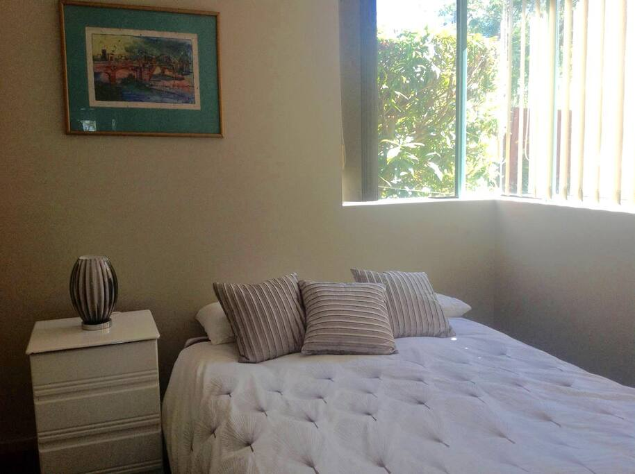 Second bedroom with Double bed and ceiling fan