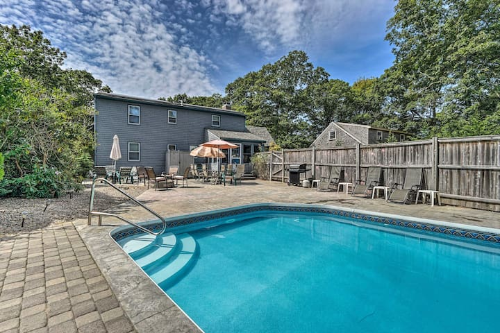 Spacious East Falmouth House w/Pool & Game Room!