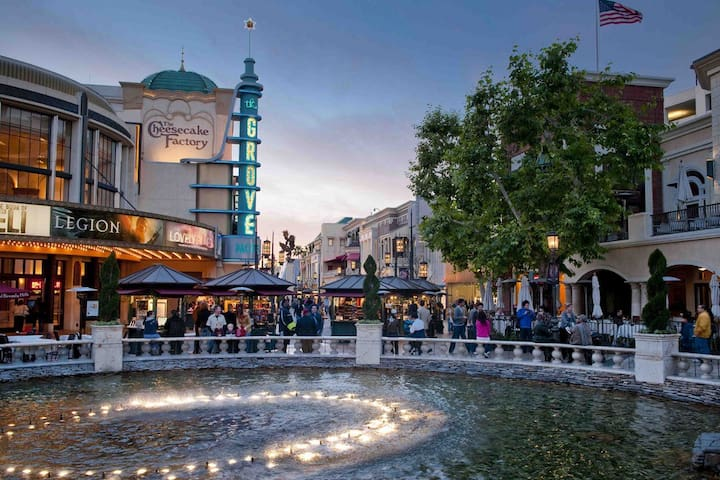 The Grove is just a three minute walk away for shopping and entertainment