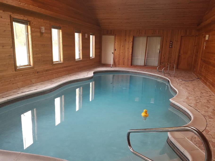 Pool 7' deep, 30ft x 15ft