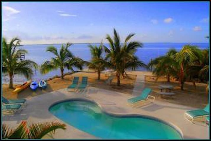Our oceanfront swimming pool area