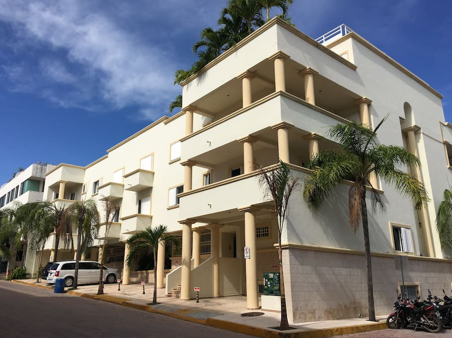 Gated access penthouse condo is only steps from the glorious Caribbean Sea.
