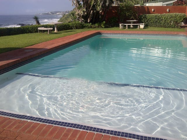 large pool to unwind in after a busy day at the beach