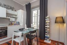 Appartamento 13 Porto Antico Suite Genova - Panoramica cucina