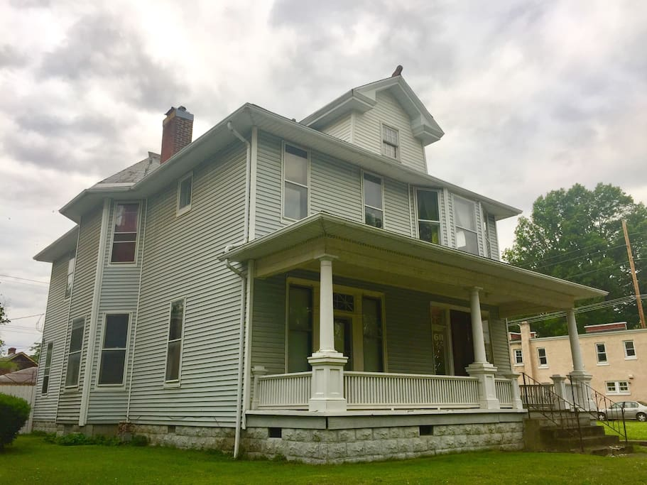 c. 1910 Historic Home For Rent-Haynies Corner Art District/Downtown Evansville, Indiana.  Includes a servant's staircase and original porcelain sink in both kitchens.