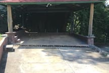 Carport - note 2 choices for steps up to the ground level.