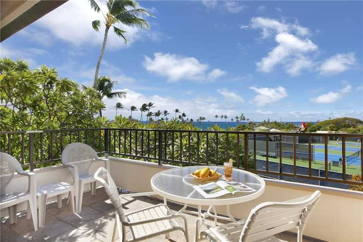 "Poipu Vacation Suite Overlooking a lush green belt ""A/C Bedroom"" *Kahala 224*"