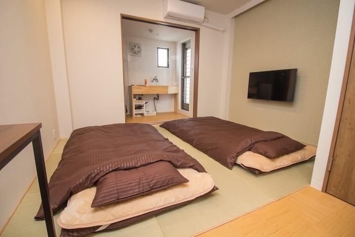 【Osaka Castle Hotel 3F】Osaka Castle Near! FreeWiFi