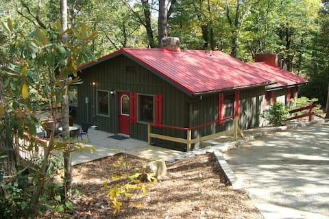 Historic Asheville Area Cabin w/Hot Tub & Firepit