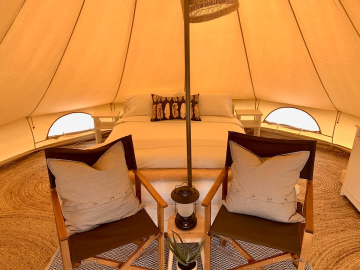 Luxury Glamping Bell Tent by Pine Country