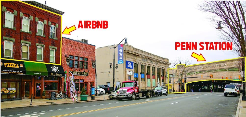 Best Location!! Steps to Newark Penn Station