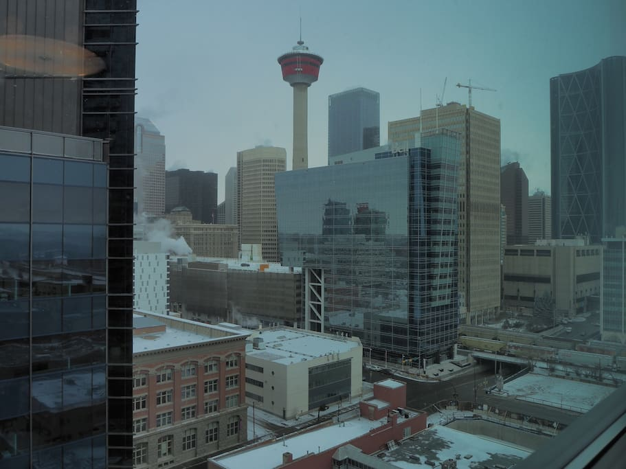 Beautiful downtown Calgary view