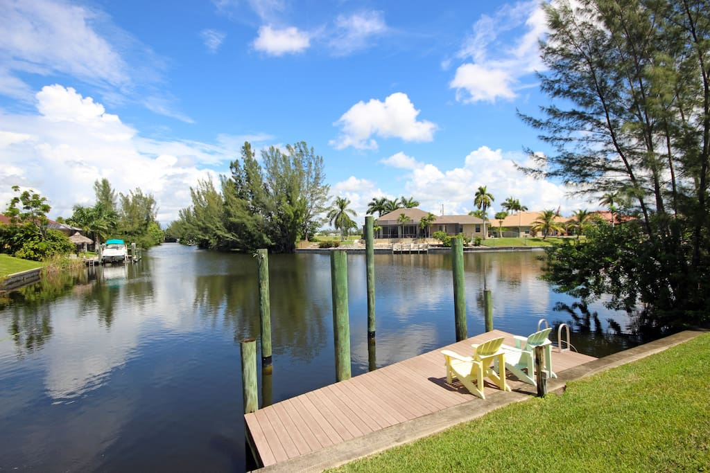 Enjoy time spent fishing from your own private dock