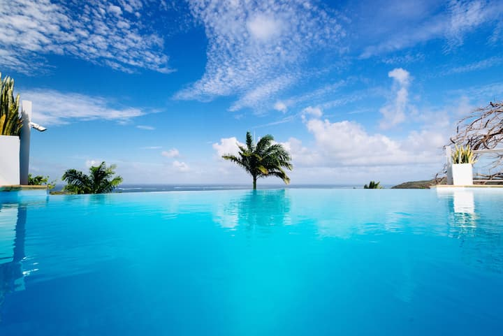 Villa grande famille 11p, piscine, vue mer, jardin