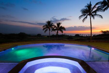 Mauna Kea High Bluffs Private Home. Stunning Ocean Views.  Private Swimming Pool.