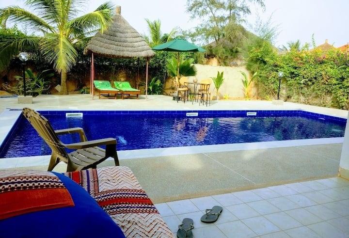 Location de  chambres dans  villa Amyou
