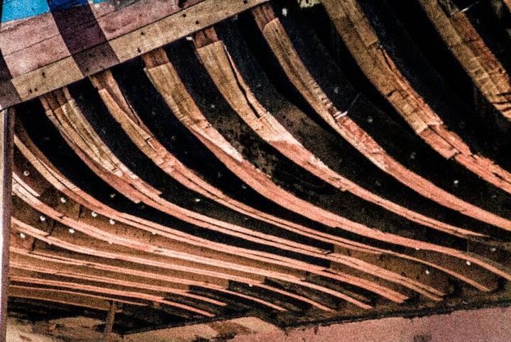 Repairs and maintenance on the slipway