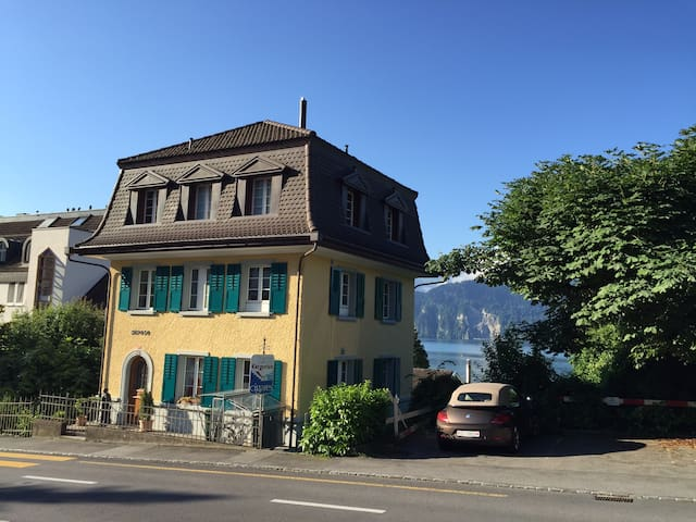 Bonsai-Herrschaftshaus nahe am See - Weggis - Apartemen