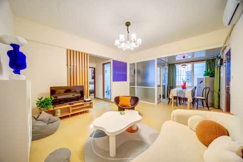 Elephant to 丨 【 Pleasant seating 】 Near Gongbei Port/High Speed Railway Station Direct to Changlong/Fuhuali Commercial Street/Super Big 4BR/Private Sky Deck