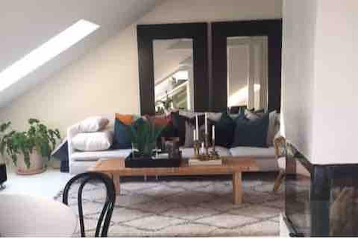 Hyggelig loftleilighet med balkong! Sentralt!