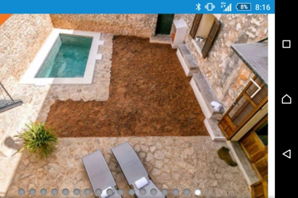 Jardín con Piscina y barbacoa