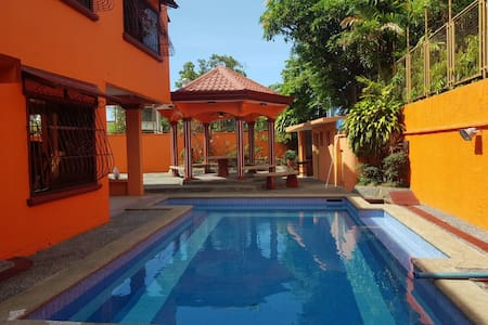 The Orange House in Pansol (Private Hot Spring)