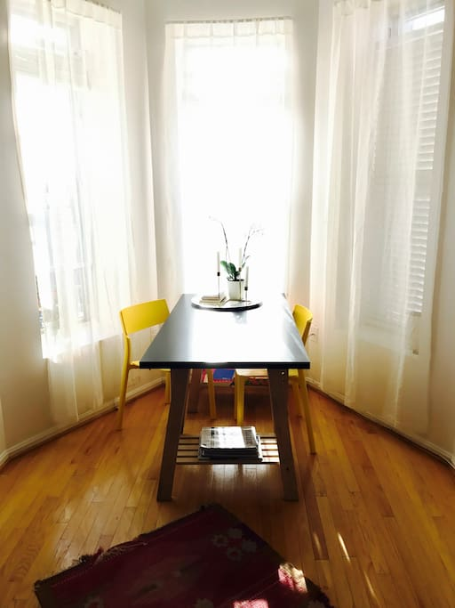 Sun drenched dining nook