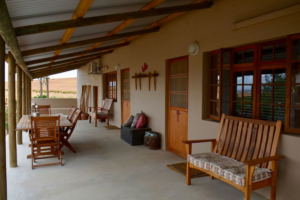 Porch with outdoor braai - share with Flower Cottage