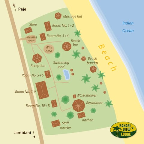 Map of Bahari View lodge property