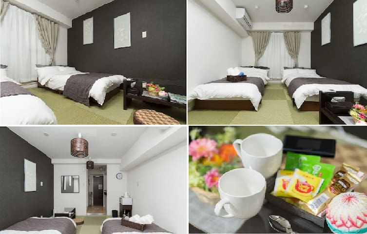 Cozy apartment close to Kaiyukan, USJ WI-FI #202