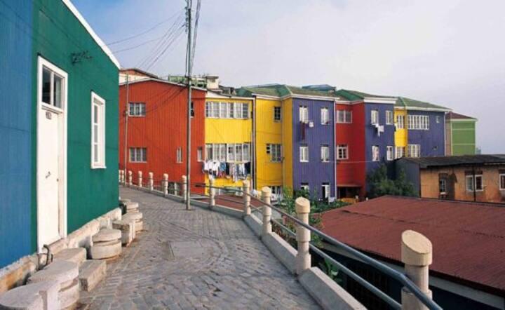 Habitación en el corazón de Valparaíso