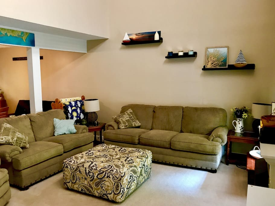 Comfortable living space suitable for entertaining