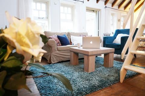 Knusse, warme 2-persoons studio met eigen tuintje