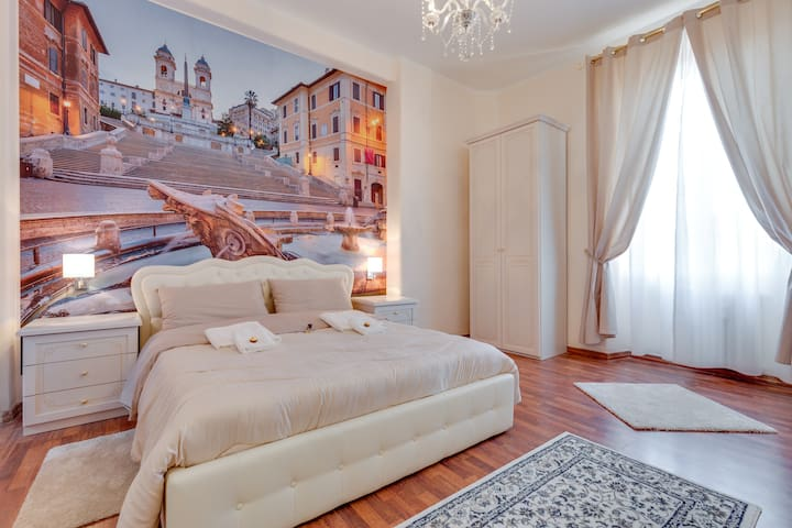 Room Spagna near STATION TERMINI PRIVATE BATHROOM - Rzym - Dom