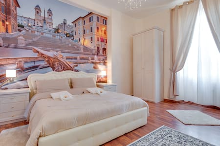 Room Spagna near STATION TERMINI PRIVATE BATHROOM - Roma - House