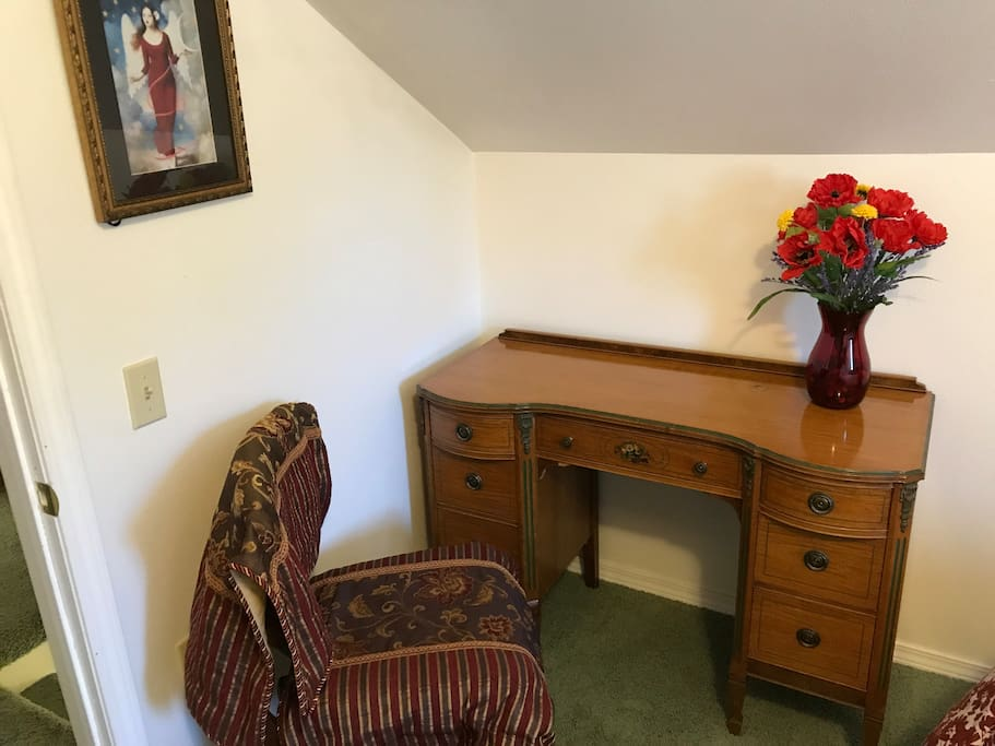 Desk and dresser for your private use