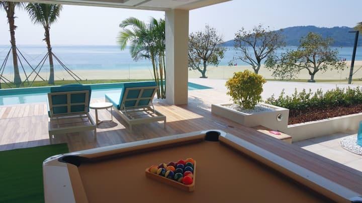 小径湾一线海景~300平米大院子带无边际泳池~二楼大阳台附加宽敞的海景大平台,6房复式别墅