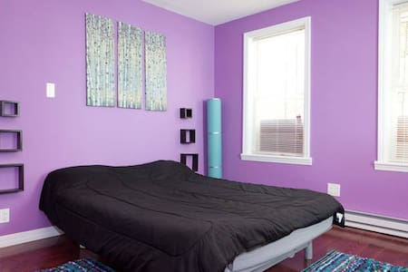 Comfortable and affordable NYC - Purple Room - Mount Vernon - House