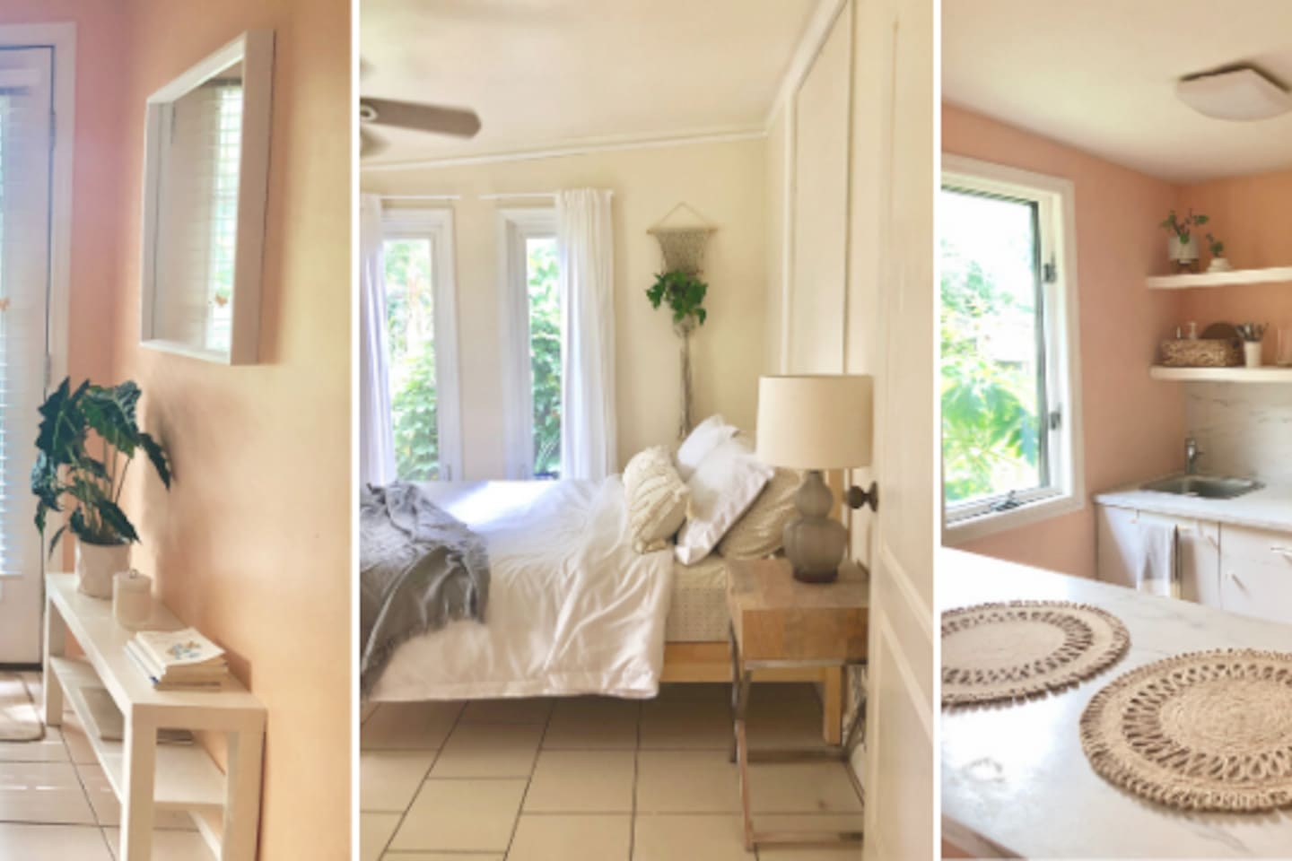 Enjoy your peaceful, relaxing retreat on 2 acres of tropical food forest.