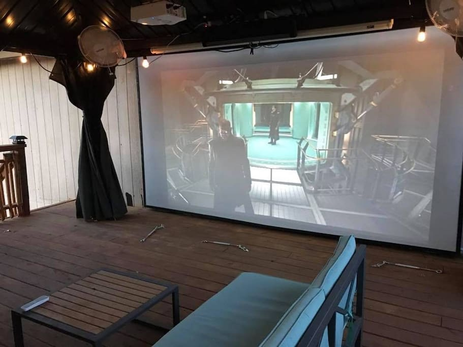 The room is cool but look at this awesome deck! w/ 155 in screen